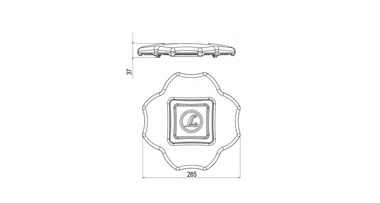 Габаритные размеры DELTA 4 MD (арт.71503042072110)