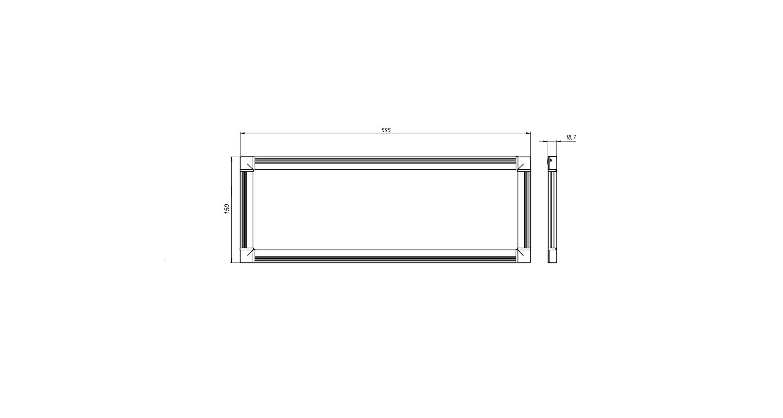 Габаритные размеры DS-DVO-008-2-P150x600 (арт.70003042071104)