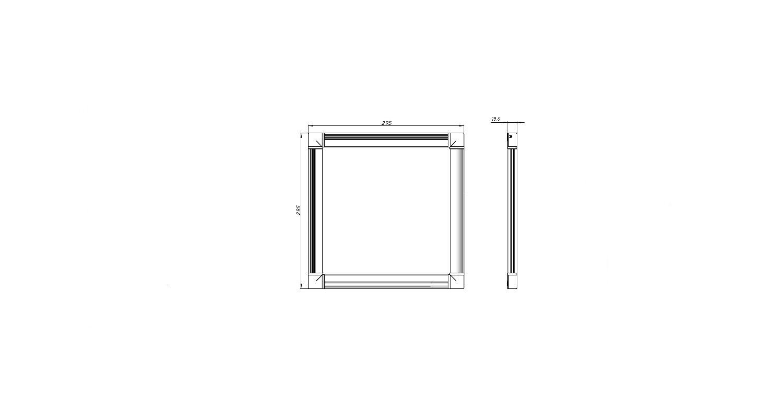 Габаритные размеры DS-DVO-008-2-P300x300 (арт.70002022071104)