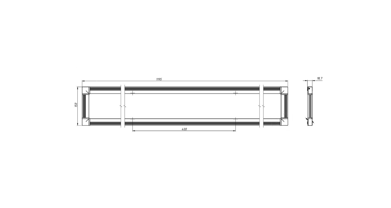 Габаритные размеры DS-DVO-015-2-P150x1200 (арт.70005042071104)