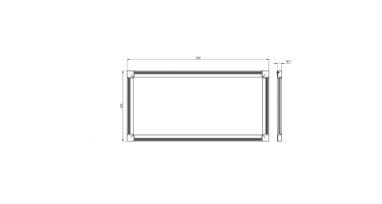 Габаритные размеры DS-DVO-015-2-P300x600 (арт.70004062071104)