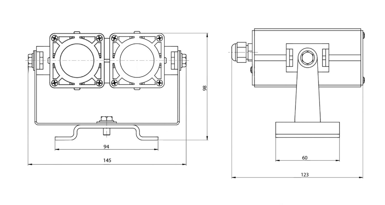 Габаритные размеры DS-LFL-016-2x3