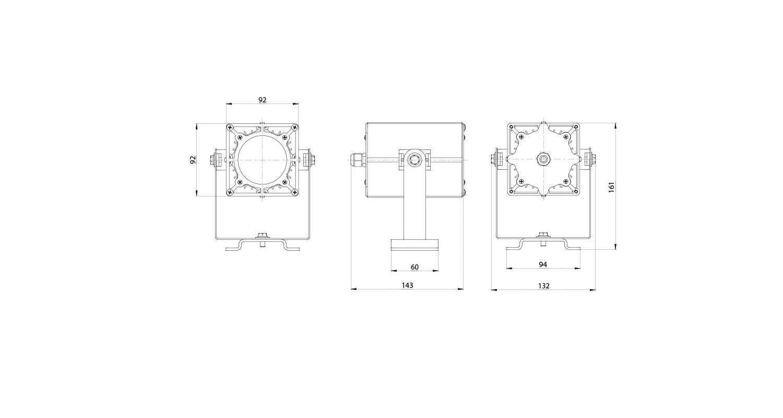 Габаритные размеры DS-LFL-025-1x12 (арт.70109041031140)