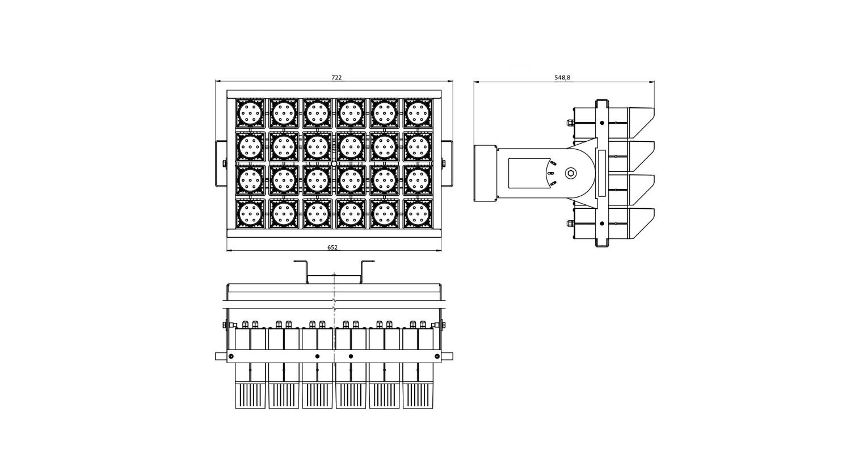Габаритные размеры DS-LFL-1300 (арт.70133073181140)