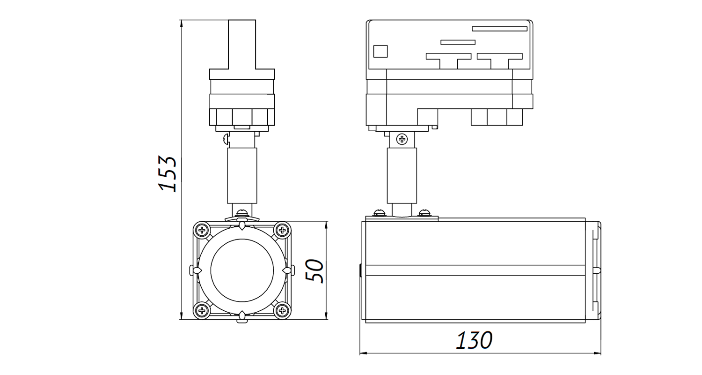Габаритные размеры DS-LFL-15-1 (арт.70602423031140)