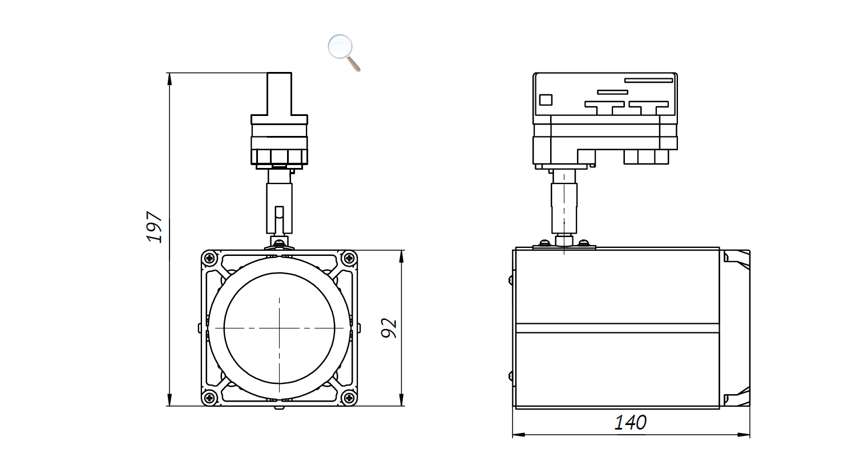 Габаритные размеры DS-LFL-24-12 (арт.70603042031140)
