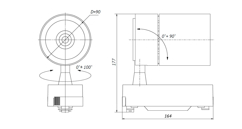Габаритные размеры DS-LFL-45-1