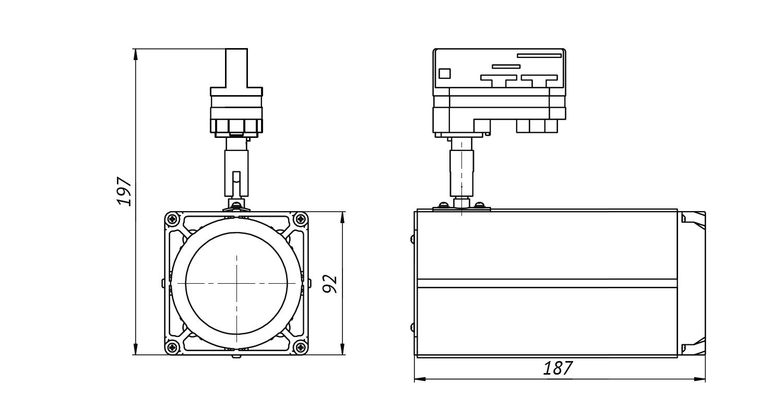 Габаритные размеры DS-LFL-45-6 (арт.70604042031140)