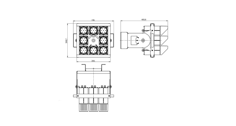 Габаритные размеры DS-LFL-450 (арт.70130041221140)