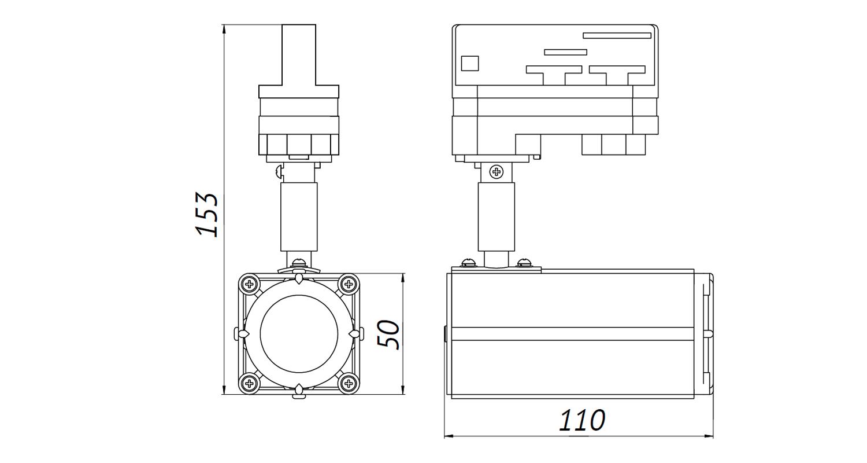 Габаритные размеры DS-LFL-8-1 (арт.70610032111140)