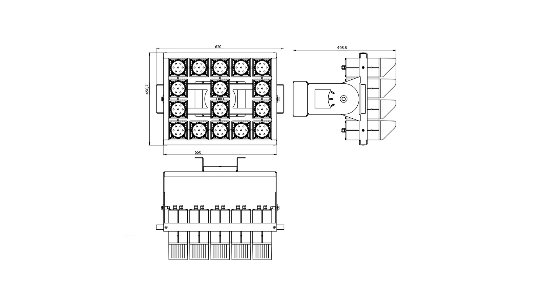 Габаритные размеры DS-LFL-900 (арт.70132041241140)