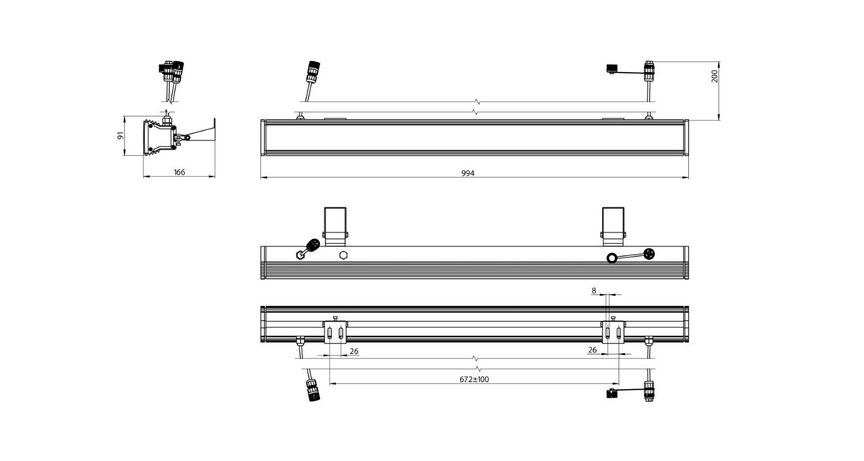 Габаритные размеры Фасад-1000