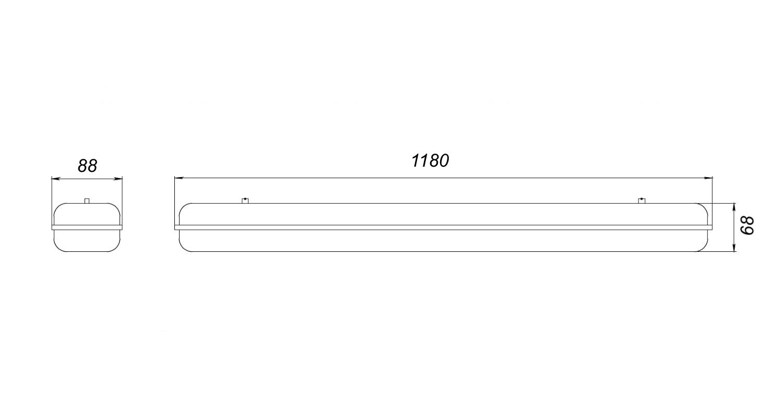 Габаритные размеры INDUSTRY.P52 (арт.71252042071114)