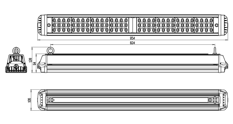 Габаритные размеры INDUSTRY.3-215-148/148 (арт.71216041012080)