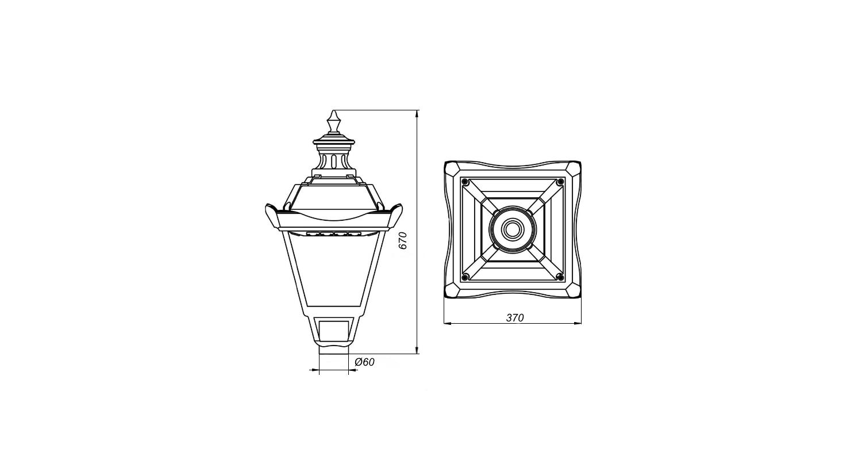 Габаритные размеры LedPark 02-028 (арт.71305041021030)