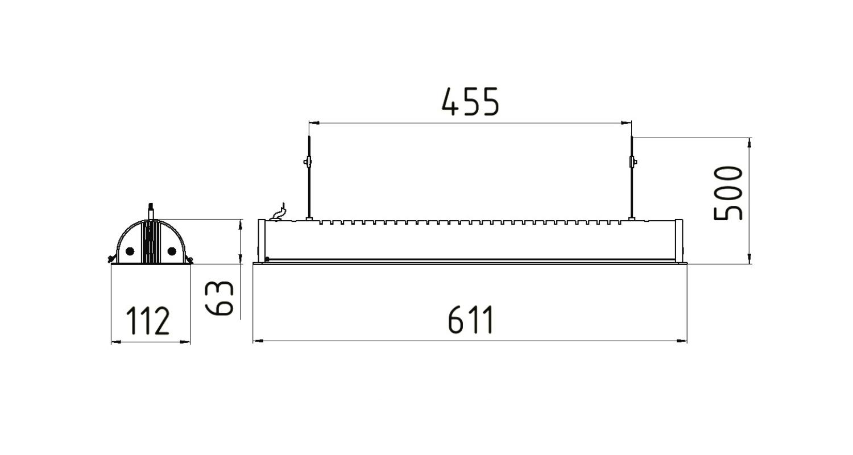 Габаритные размеры LINE.P 16
