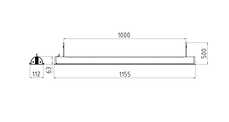 Габаритные размеры LINE.P 33 (арт.71013062071120)
