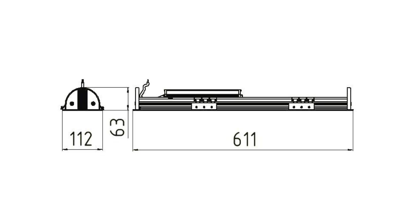 Габаритные размеры LINE.V 16