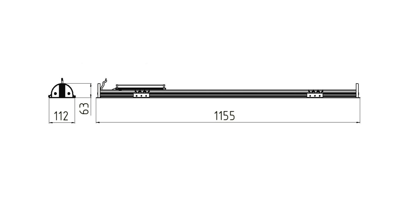 Габаритные размеры LINE.V 33 (арт.71011042061130)
