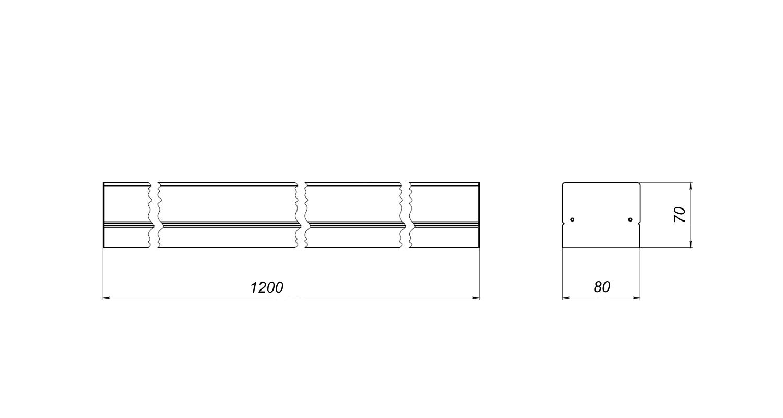 Габаритные размеры LineLux.N-040 (арт.71019042071110)