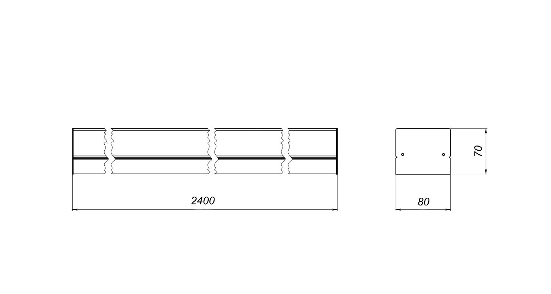 Габаритные размеры LineLux.N-080