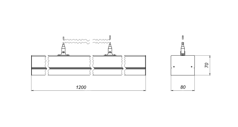 Габаритные размеры LineLux.P-040