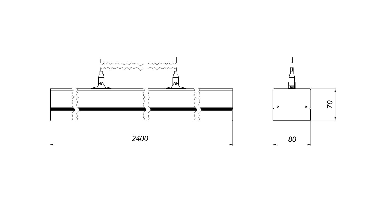 Габаритные размеры LineLux.P-080