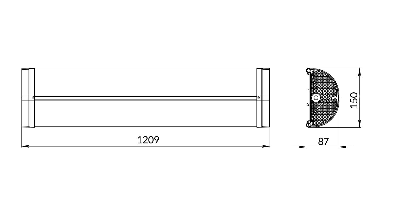 Габаритные размеры Line.Prom50-120-65