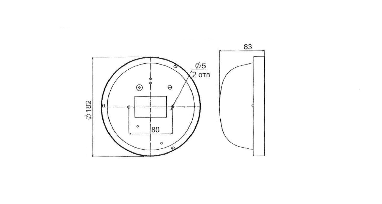 Габаритные размеры LL-ДБО-01-014-0112-65Б (арт.71505042081115)