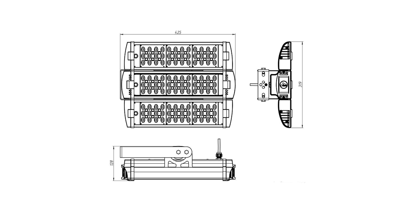 Габаритные размеры LL-ДБУ-02-135-0336-67