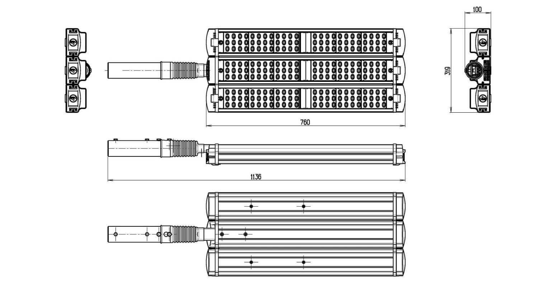 Габаритные размеры LL-ДКУ-02-270-0317-67