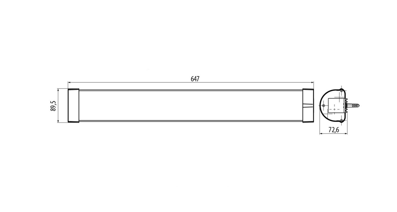 Габаритные размеры LINE.N 16 (арт.71015062071110)