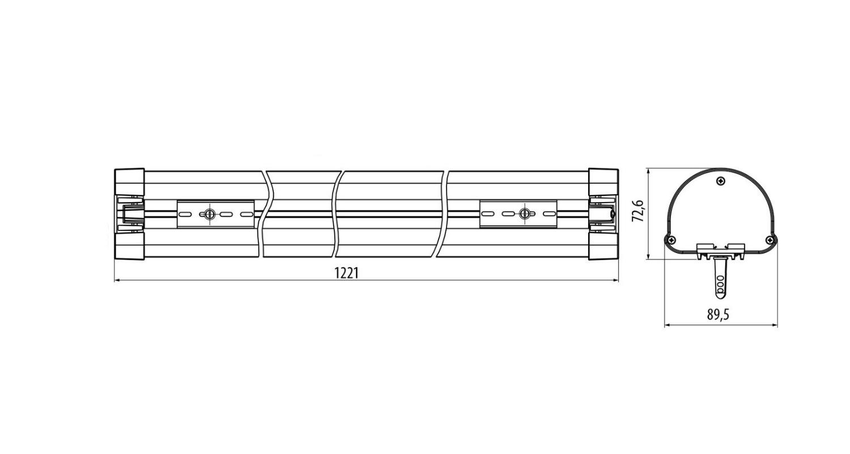 Габаритные размеры LINE.N 32 (арт.71017042071110)