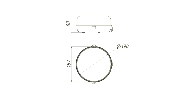 Габаритные размеры LL-ДПП-10-010-1010-54Б