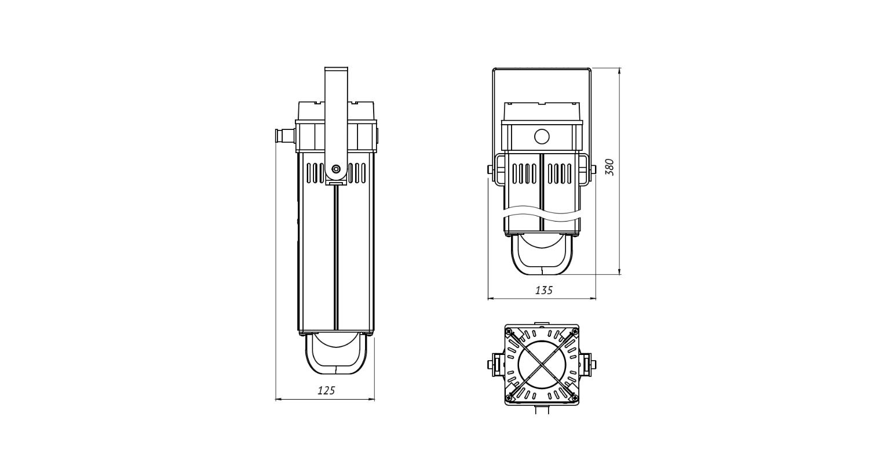 Габаритные размеры LL-DS-050 (1104) (арт.71609041021052)
