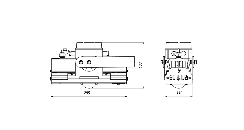 Габаритные размеры LL-DS-050 (арт.71602041032081)