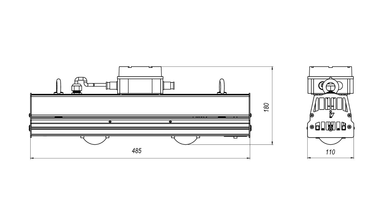 Габаритные размеры LL-DS-085 (арт.71604041022052)