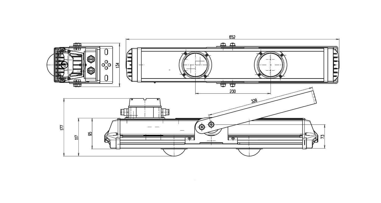 Габаритные размеры LL-DS-110 (арт.71605041042051)