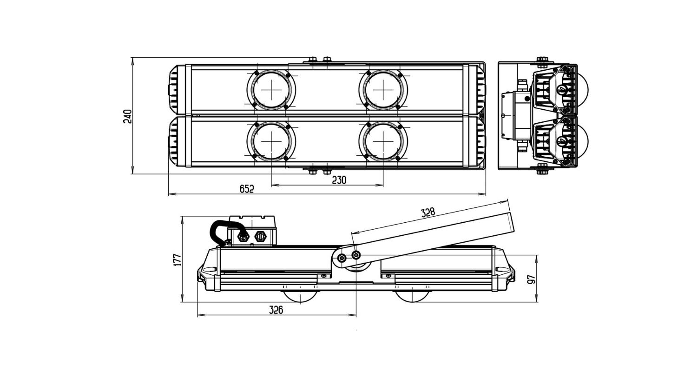 Габаритные размеры LL-DS-170 (арт.71606061032052)
