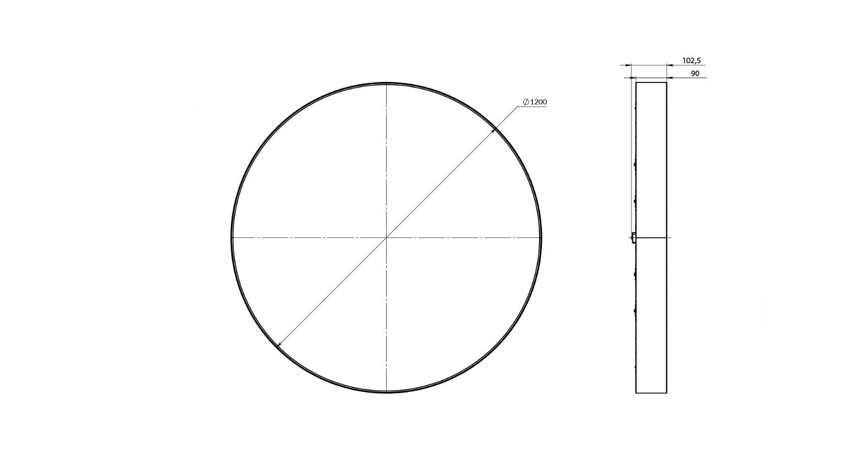 Габаритные размеры LL-DSO-180-1200