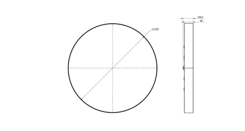 Габаритные размеры LL-DSO-225-1200
