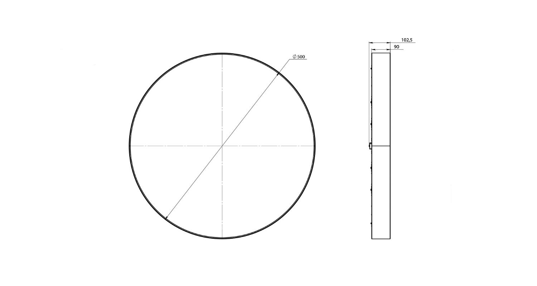 Габаритные размеры LL-DSO-25-500