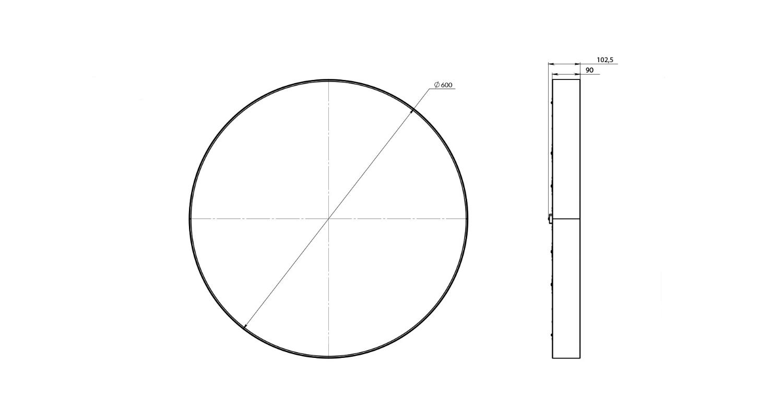 Габаритные размеры LL-DSO-30-600