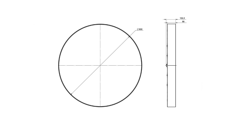 Габаритные размеры LL-DSO-60-900