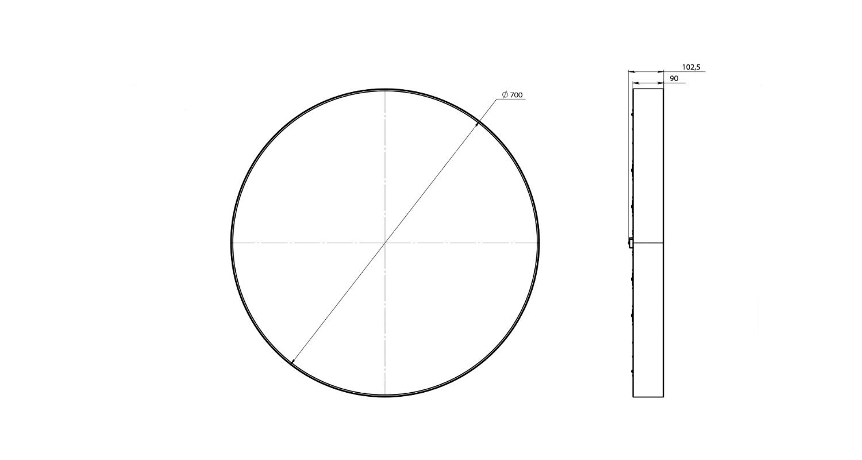 Габаритные размеры LL-DSO-75-700
