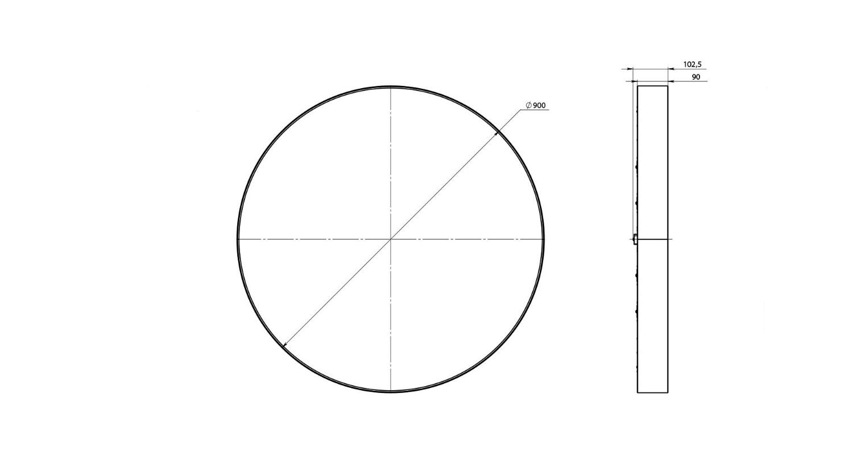 Габаритные размеры LL-DSO-90-900