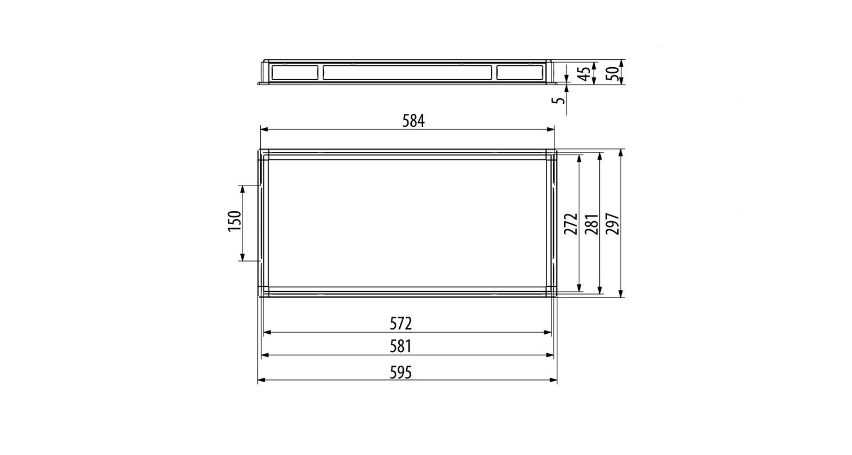 Габаритные размеры LL-DVO-020-P600x300