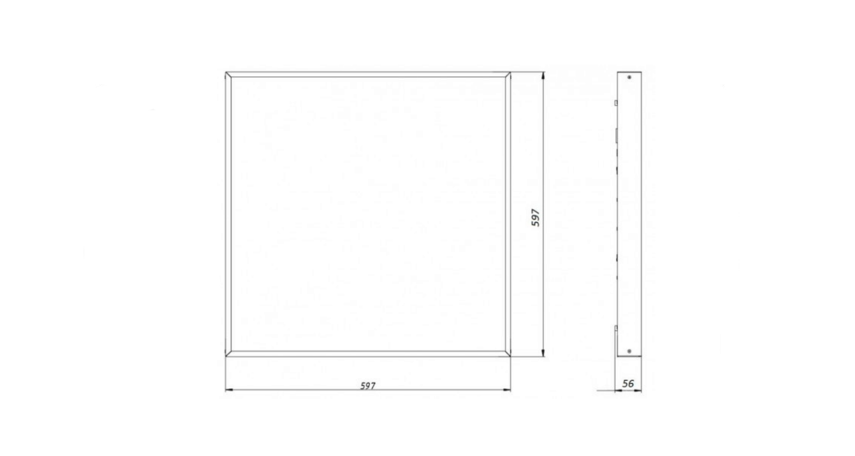Габаритные размеры LL-DVO-025-M600x600 (арт.71002062061100)