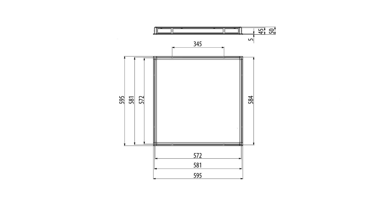 Габаритные размеры LL-DVO-033-P600x600