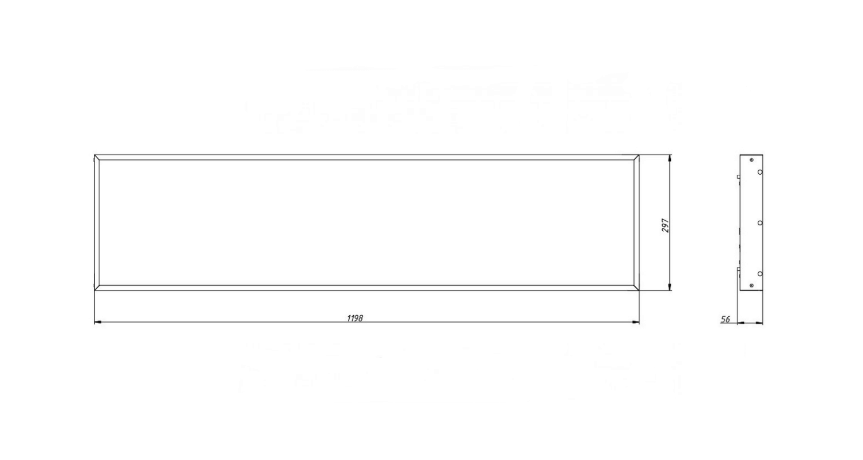 Габаритные размеры LL-DVO-041-M1200x300 (арт.71005062071100)